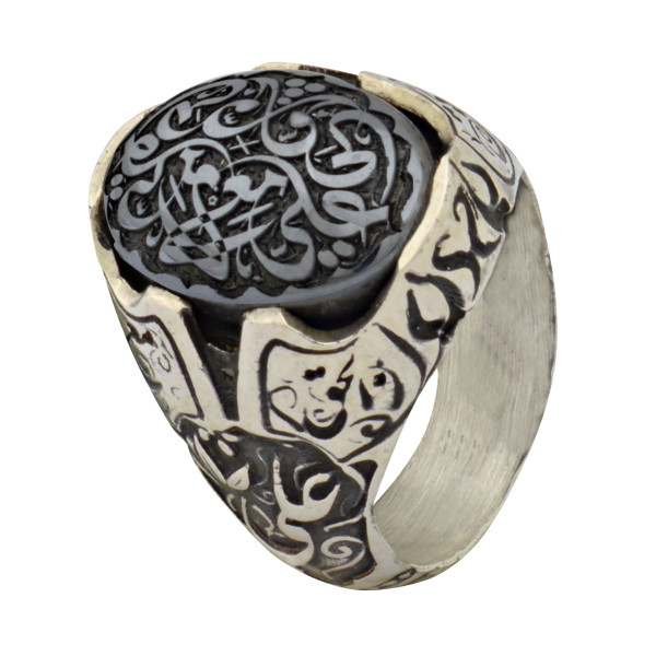 انگشتر نقره مردانه کد wr50