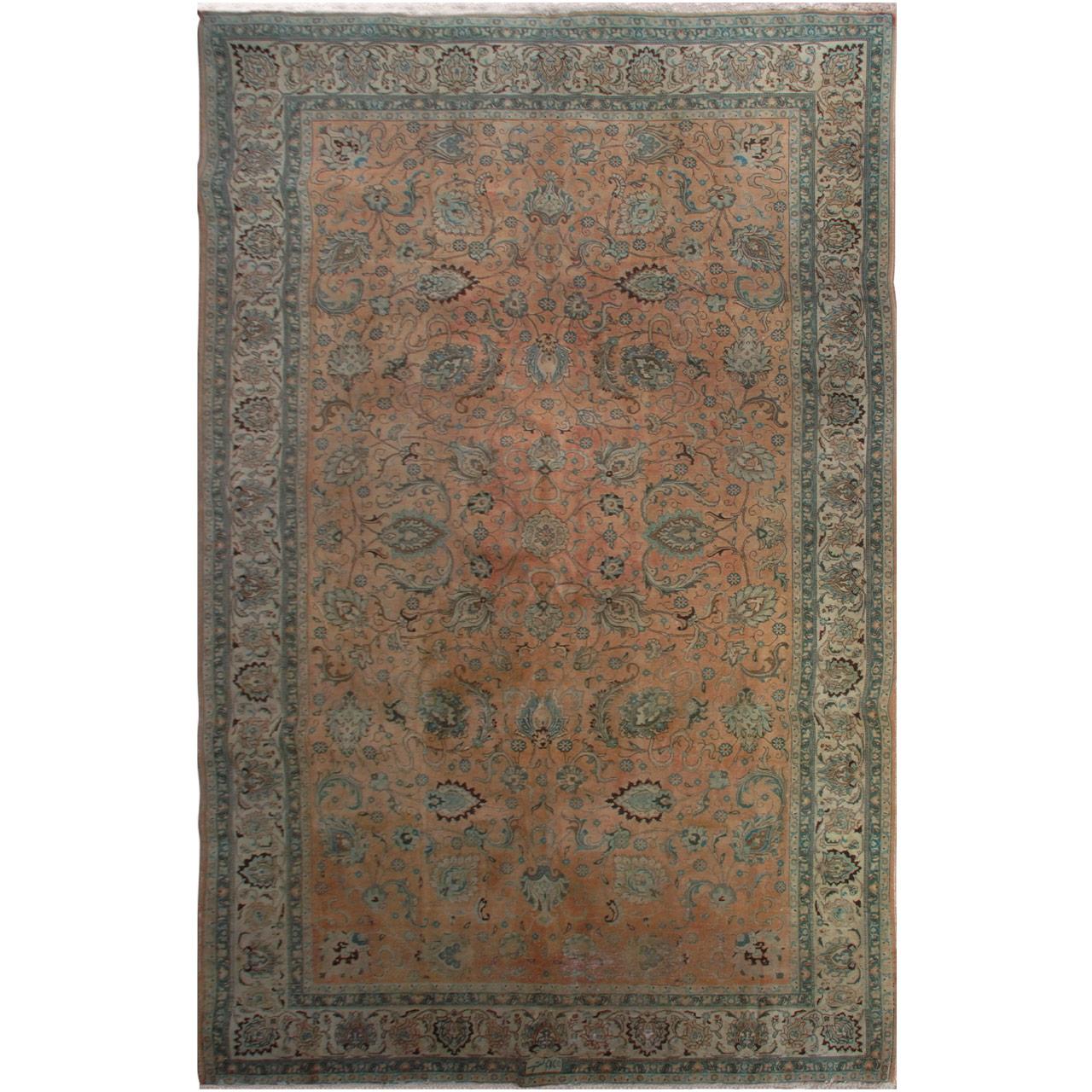 فرش دستبافت رنگ شده پانزده و نیم متری فرش هریس کد 101486