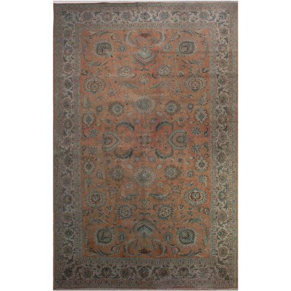 فرش دستبافت رنگ شده شانزده و نیم متری فرش هریس کد 101485