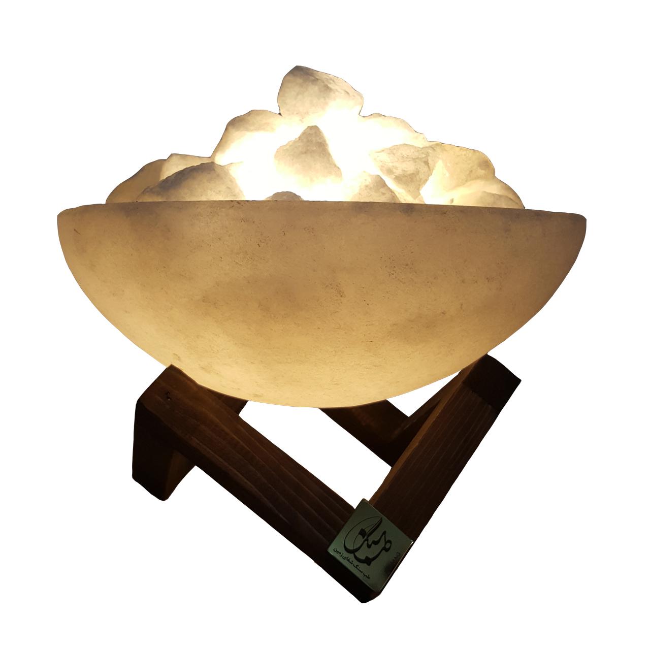 چراغ خواب سنگ نمک طب سنگ مدل TA2010