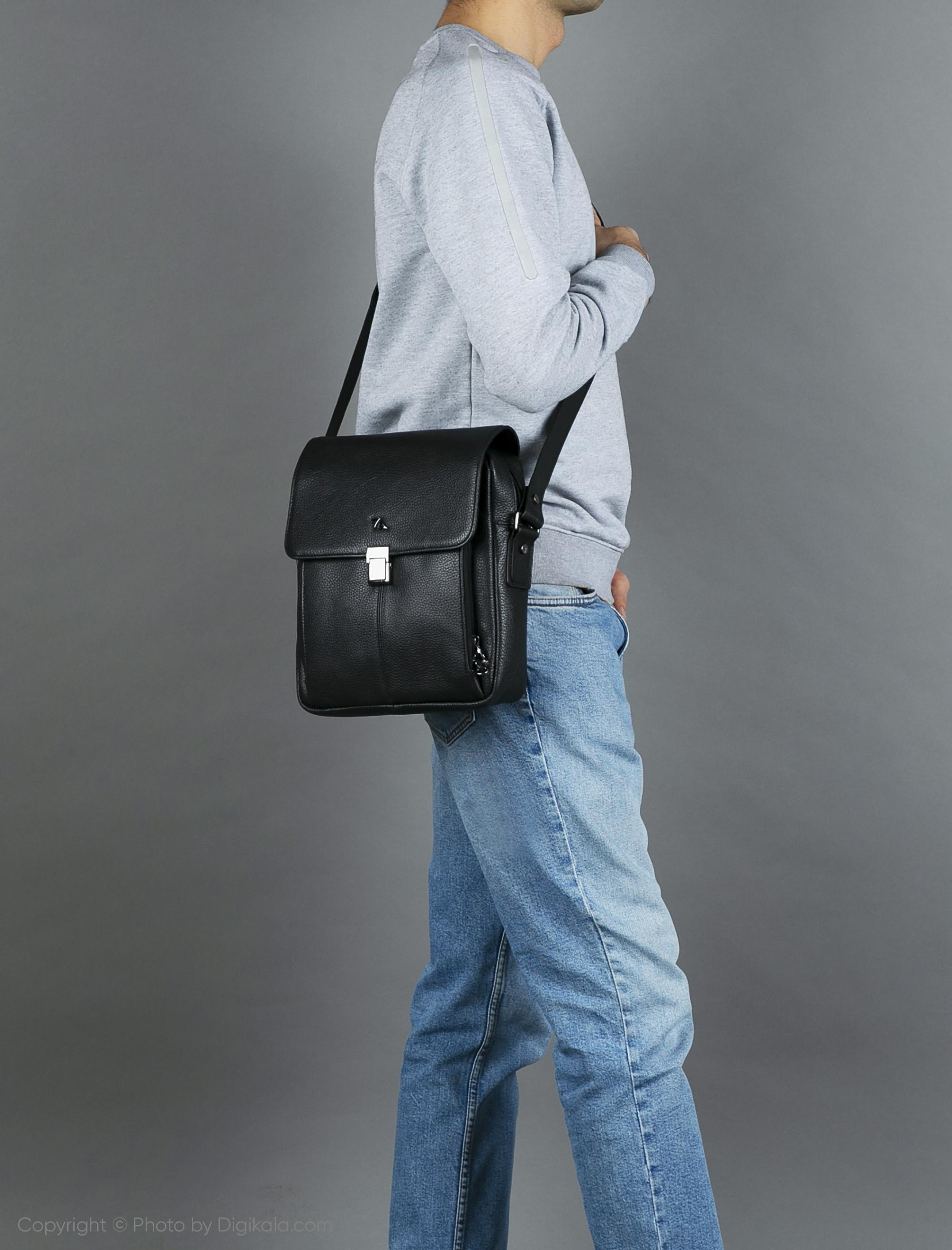 کیف رودوشی مردانه چرم مشهد مدل X117