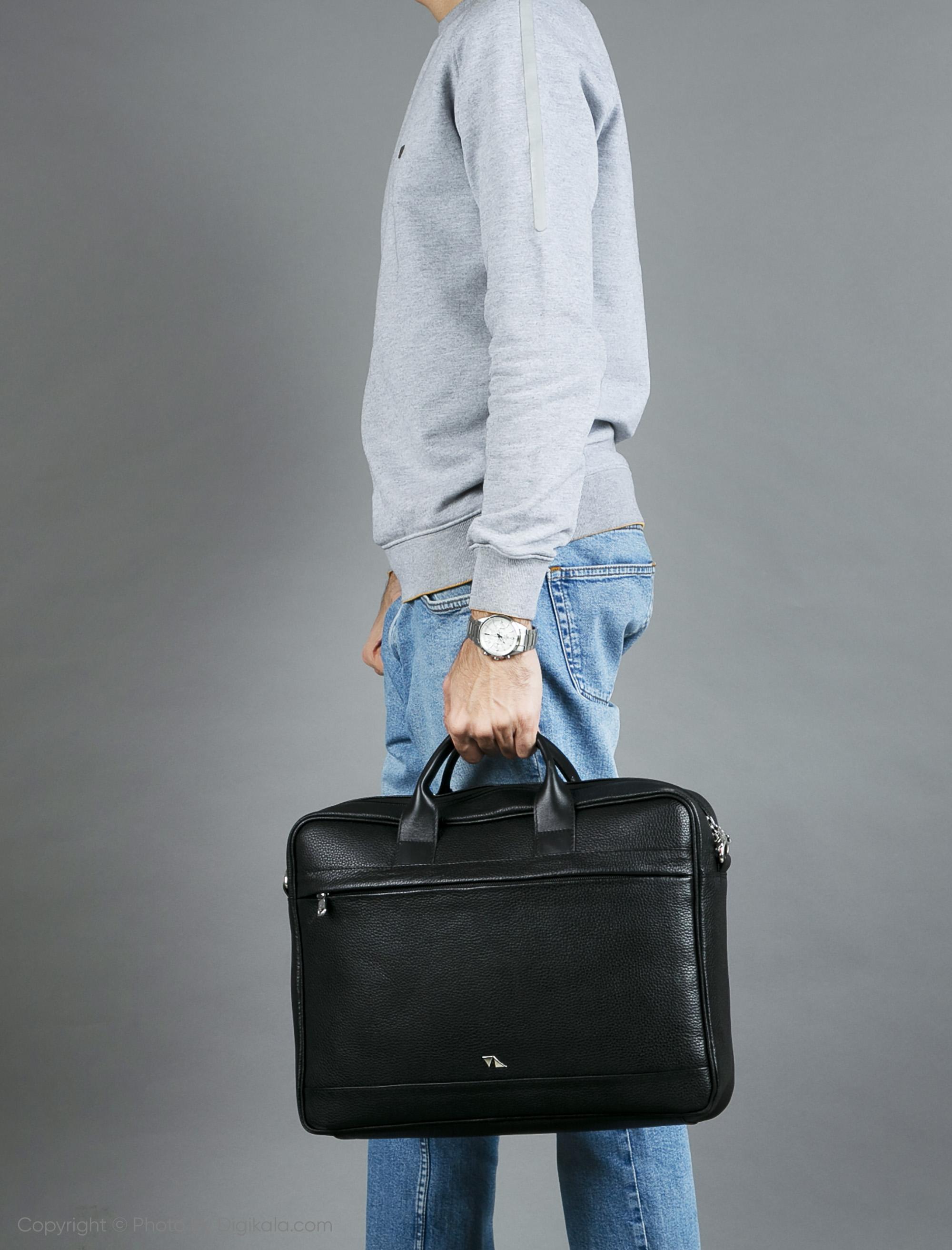 کیف اداری مردانه چرم مشهد مدل A0580
