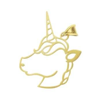 آویز گردنبند طلا 18 عیار زنانه طرح تک شاخ کد UN029
