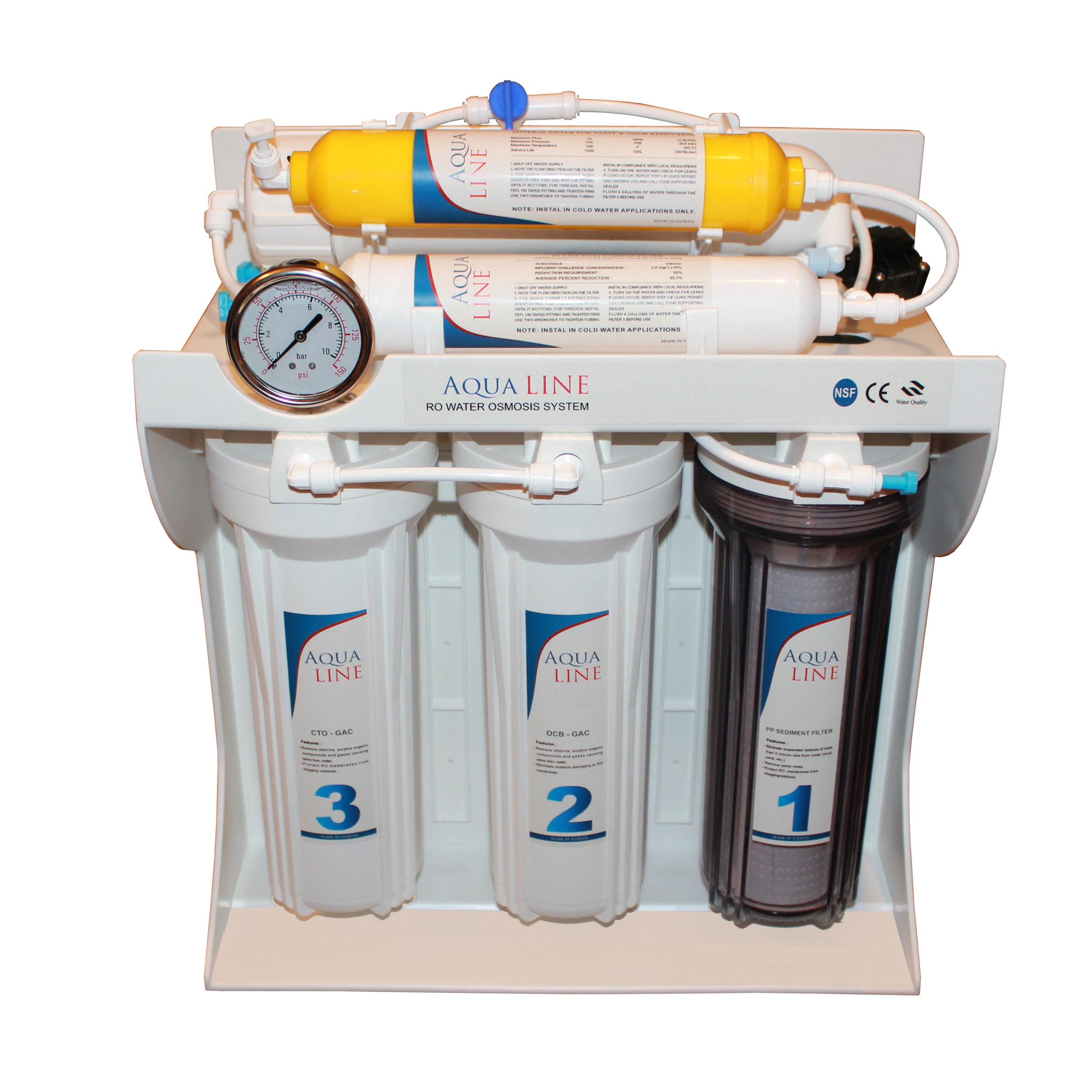 دستگاه تصفیه کننده آب آکوا لاین مدل RO-LINE 600 fiber