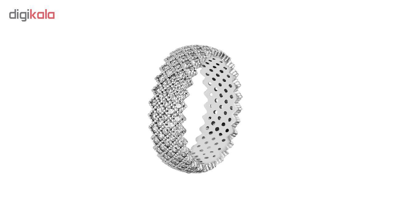 انگشتر نقره زنانه مد و کلاس کد 180323-6.5 -  - 3