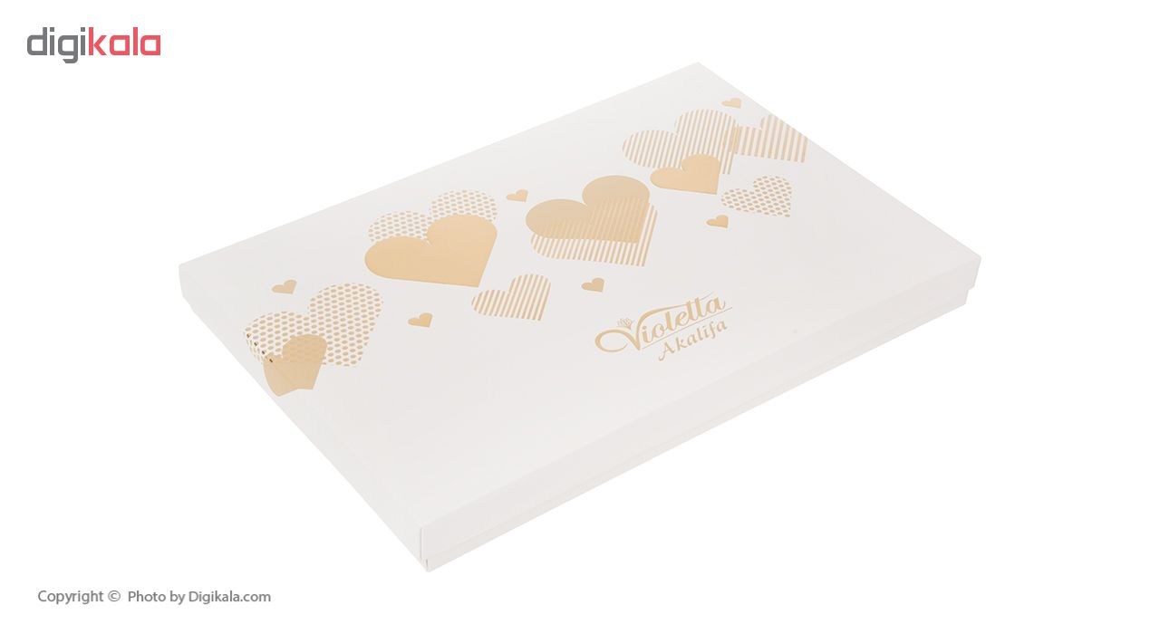 شکلات مغزدار ویولتا آکالیفیا مدل Heart مقدار 187 گرم