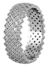 انگشتر نقره زنانه مد و کلاس کد 180323-6.5 -  - 1