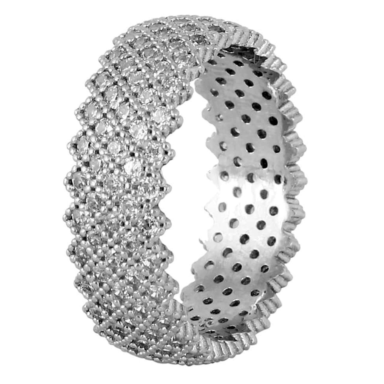 انگشتر نقره زنانه مد و کلاس کد 180323-6.5 -  - 2