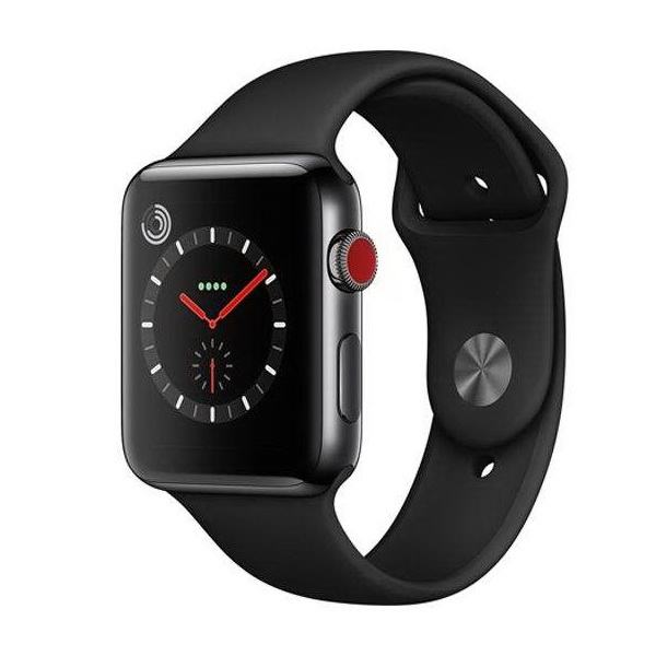 ساعت هوشمند اپل سری ۳ سلولار مدل ۳۸mm Aluminium Case with Sport Band