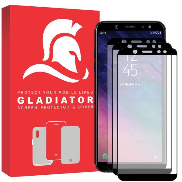 محافظ صفحه نمایش گلادیاتور مدل GPS3000 مناسب برای گوشی موبایل سامسونگ Galaxy A6 Plus 2018 بسته سه عددی