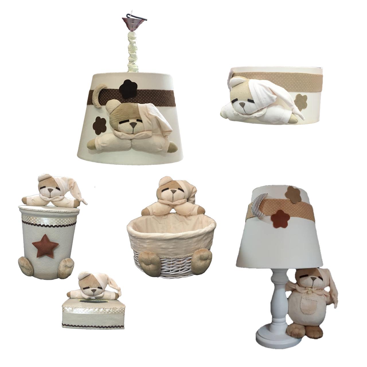 خرید                     سیسمونی اتاق کودک طرح خرس نانان کد S101 مجموعه 6 عددی