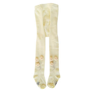 جوراب شلواری نوزادی دخترانه کد 3300 رنگ زرد