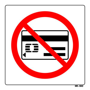 برچسب ایمنی مستر راد طرح همراه داشتن کارت بانکی ممنوع کدLR00016 بسته دوعددی