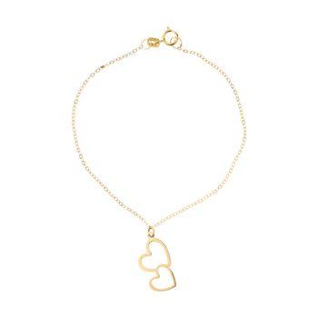 دستبند طلا 18 عیار زنانه مایا ماهک مدل MB0956