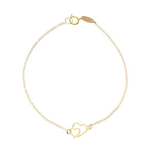 دستبند طلا 18 عیار زنانه مایا ماهک مدل MB0957