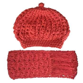 ست کلاه و شال گردن بافتنی مدل 00121