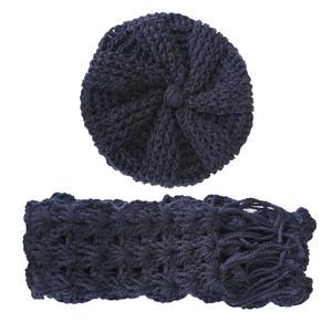 ست کلاه و شال گردن بافتنی مدل 00122