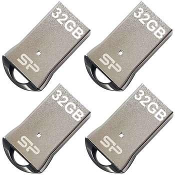 فلش مموری سیلیکون پاور مدل Touch T01 ظرفیت 32 گیگابایت بسته 4 عددی