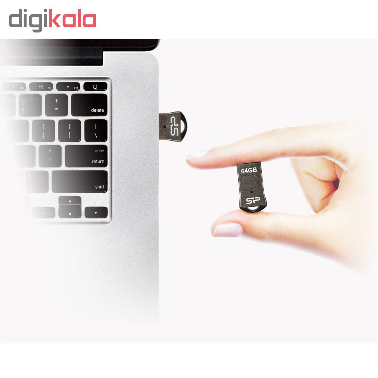 فلش مموری سیلیکون پاور مدل Touch T01 ظرفیت 64 گیگابایت  main 1 4