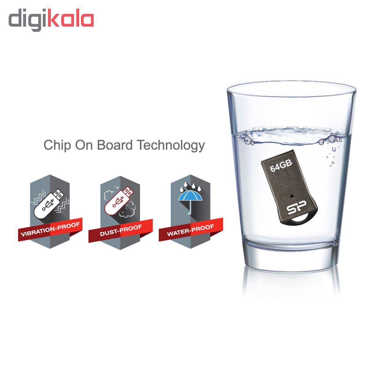 فلش مموری سیلیکون پاور مدل Touch T01 ظرفیت 64 گیگابایت  main 1 5
