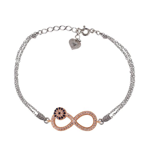 دستبند نقره زنانه مد و کلاس کد mc-499