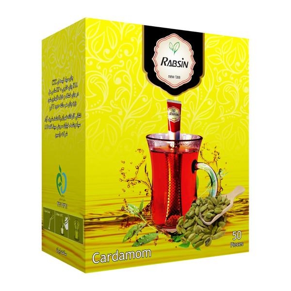 چای سیاه با طعم هل رابسین بسته 50 عددی