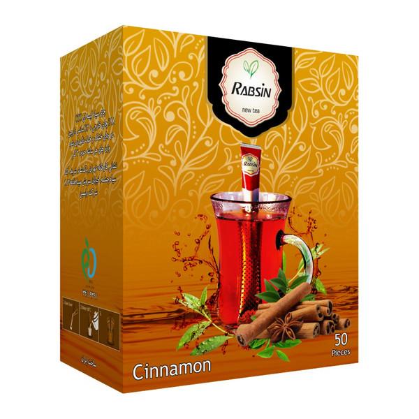 چای سیاه با طعم دارچین رابسین بسته 50 عددی