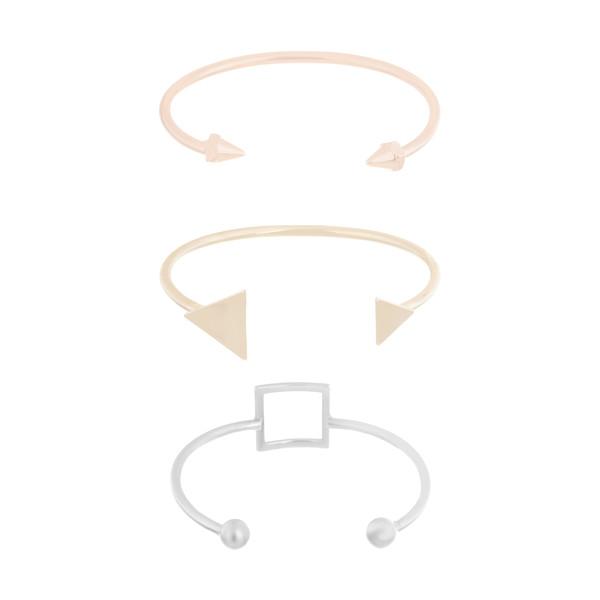 دستبند النگویی زنانه اسپرینگ فیلد مدل 8459630-BROWNS بسته 3 عددی