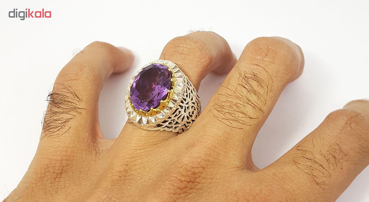انگشتر نقره مردانه گالری احد کد 4857