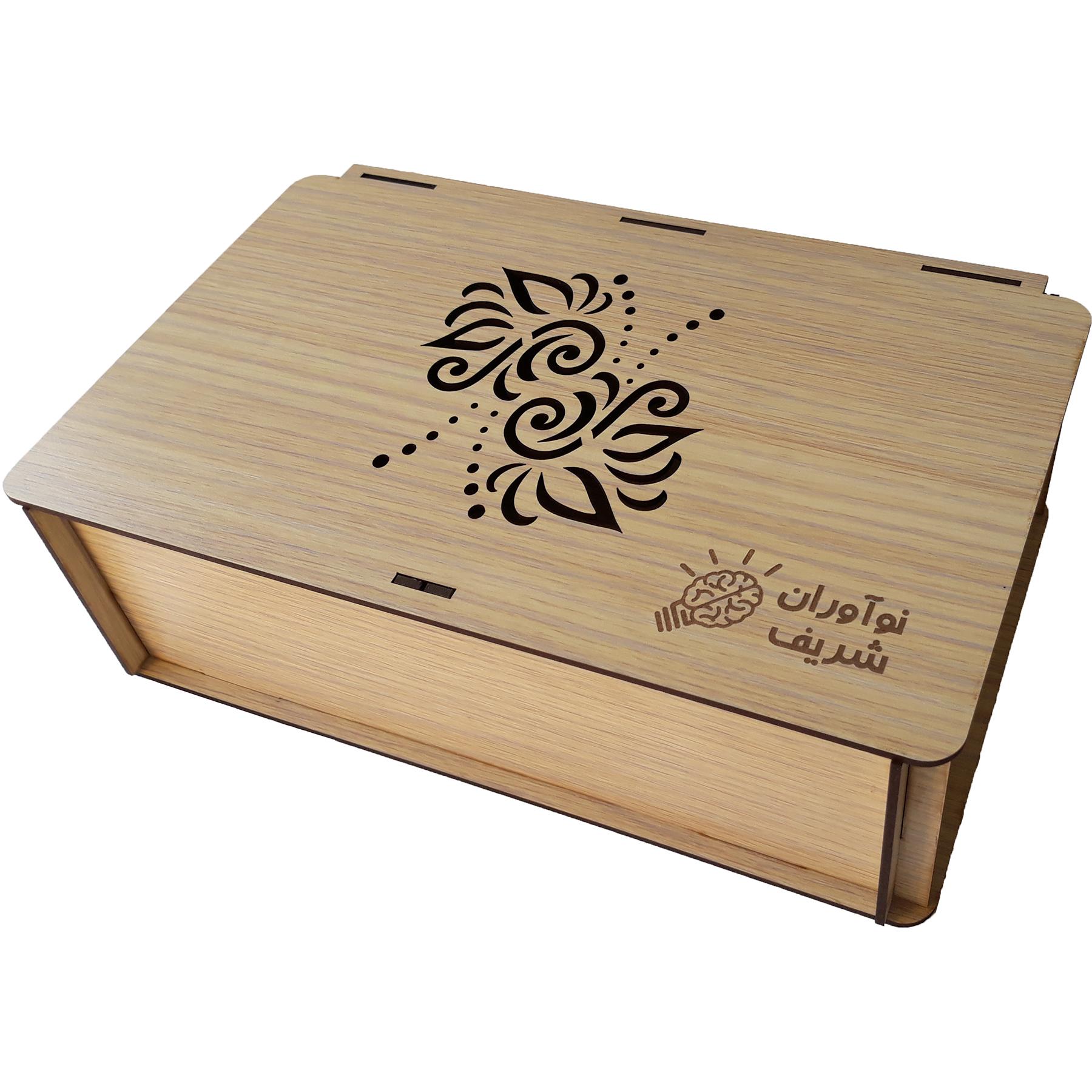 جعبه هدیه چوبی نوآوران شریف کد MS01