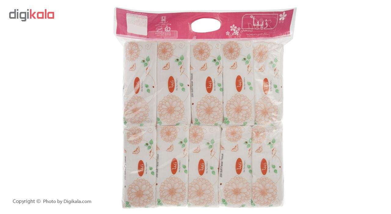 دستمال کاغذی 100 برگ زیبا مدل Z1 بسته 10 عددی main 1 1