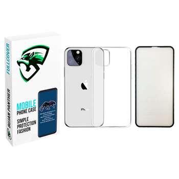 کاور مدل bjnp مناسب برای گوشی موبایل اپل iphone 11 pro max به همراه محافظ صفحه نمایش