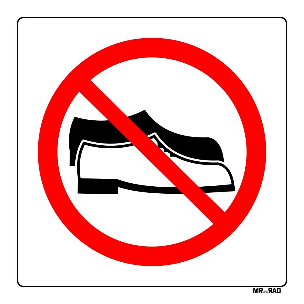 برچسب ایمنی FG طرح ورود با کفش ممنوع کدLR00220 بسته دوعددی