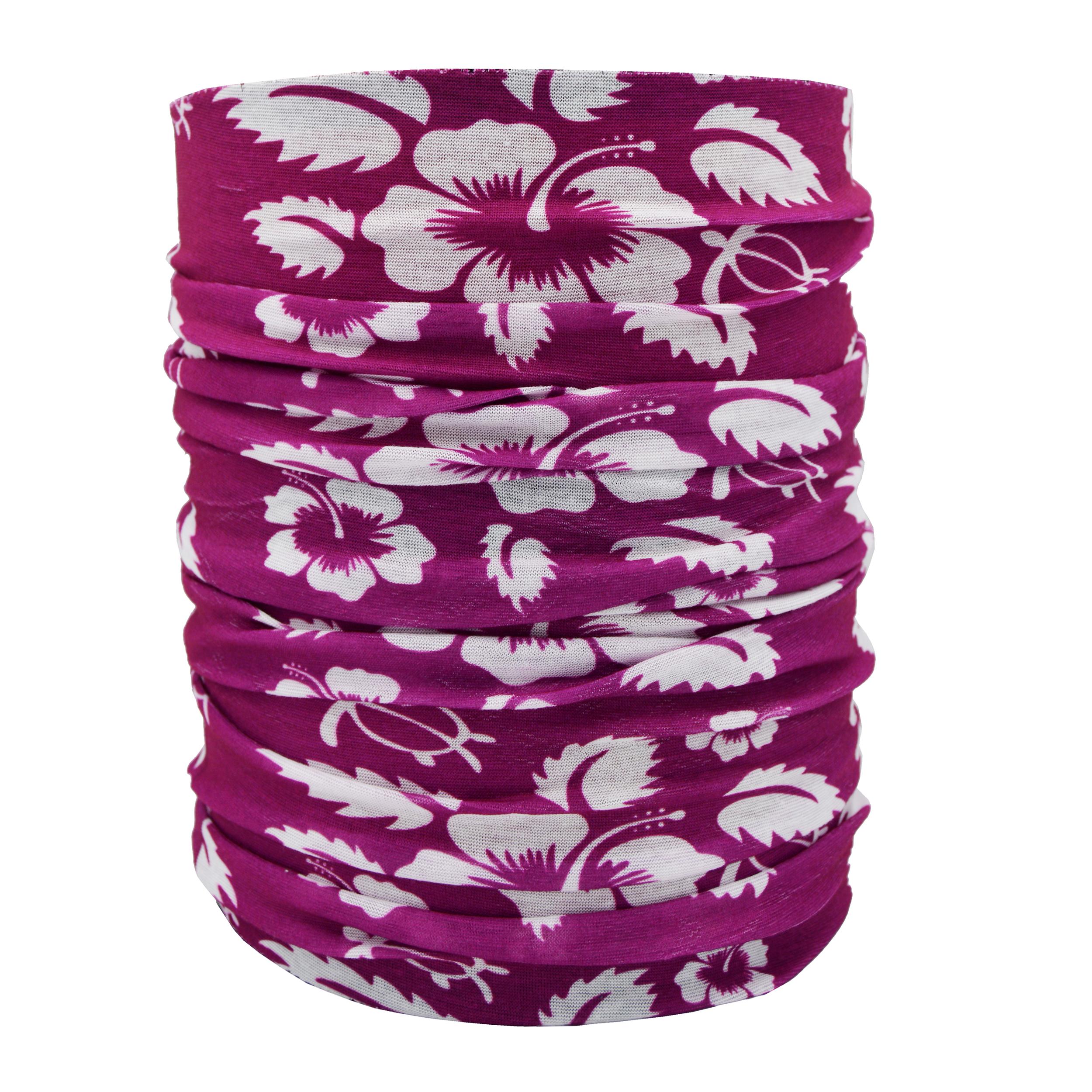 دستمال سر و گردن طرح Flower کد fw 1001