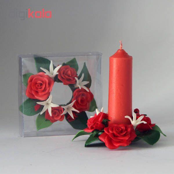 شمع رز مدل دلفام بسته 2 عددی main 1 4