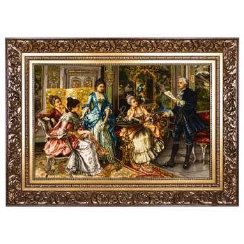 تابلو فرش دستباف سی پرشیا طرح شاعر فرانسوی کد 792018