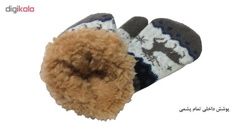 دستکش  نوزادی طرح گوزن کد PK-H256-5