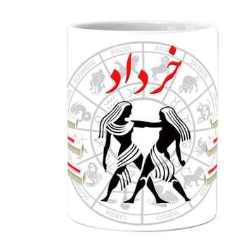 ماگ طرح ماه تولد خرداد کد 03