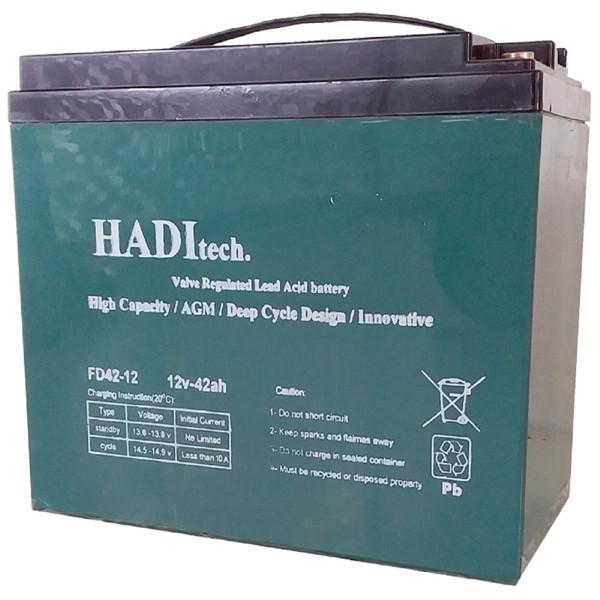 باتری خورشیدی هادیتک مدل FD12V42 ظرفیت ۴۲ آمپر ساعت