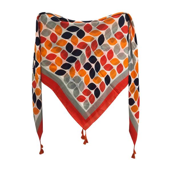 روسری زنانه طرح برگ پاییز  کد 156451
