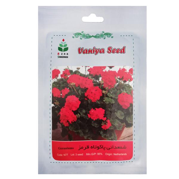 بذر گل شمعدانی پاکوتاه قرمز آذر سبزینه مدل N77