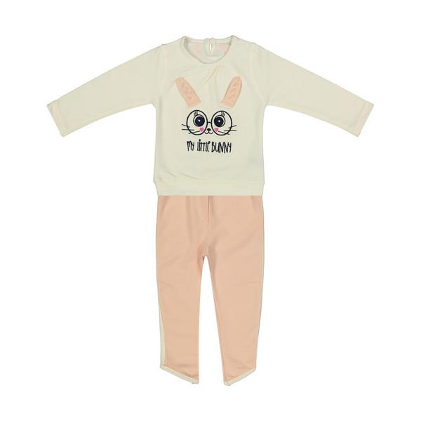 ست تی شرت و شلوار دخترانه کد 012