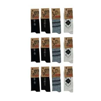 جوراب مردانه کد J1 مجموعه 12 عددی