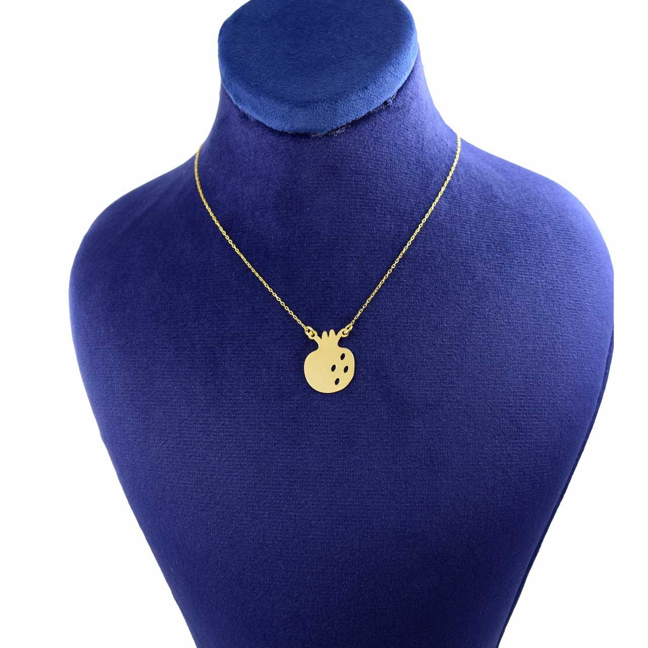 گردنبند طلا 18 عیار زنانه کانیار گالری طرح انار کد 2210