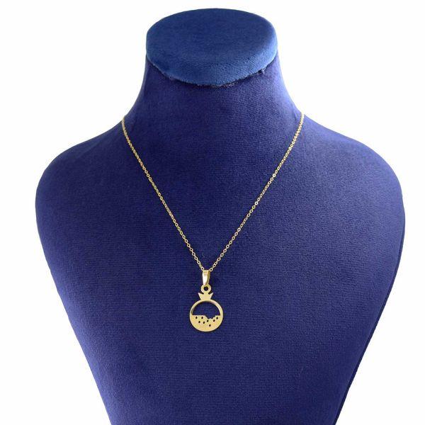 گردنبند طلا 18 عیار زنانه کانیار گالری طرح انار کد 2032