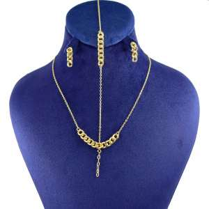 نیم ست طلا 18 عیار زنانه کانیار گالری کد NK21