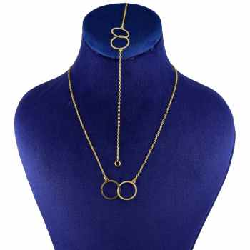 نیم ست طلا 18 عیار زنانه کانیار گالری کد N336