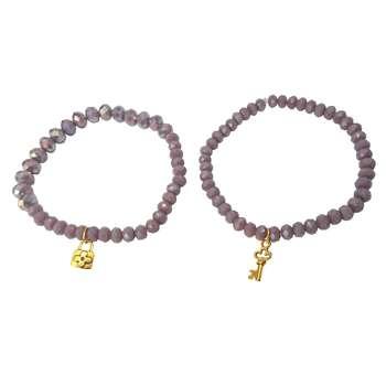 دستبند زنانه کد DM024 مجموعه 2 عددی
