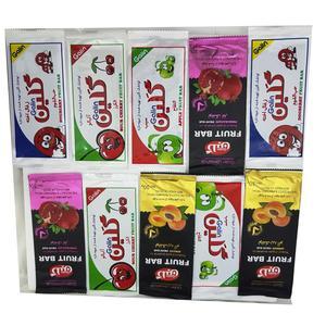 لواشک میوه ای مخلوط گلین مقدار 30 گرم بسته 10 عددی