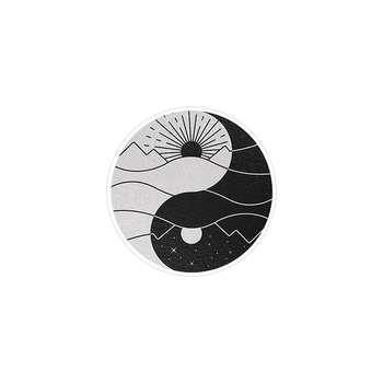 استیکر لپ تاپ ماسا دیزاین طرح یین و یانگ یوگا مدل STK136